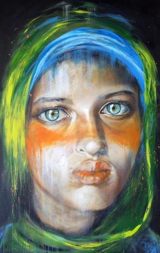 Eva Vogt, Diana, People: Faces, Contemporary Art, Expressionism
