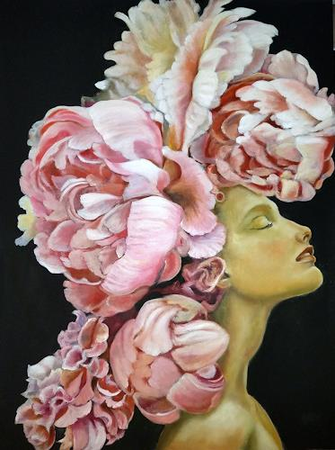 Eva Vogt, Päonien 4, Burlesque, Contemporary Art, Expressionism