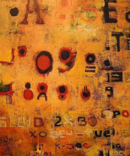 Raúl López García, Rutina Amarilla, Abstract art, The world of work, Abstract Art, Abstract Expressionism