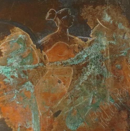 Elisabeth Bürstl, Moulin Rouille -klein, People, Expressionism
