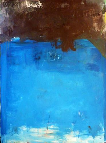 Mila Plaickner, blue-braun, Abstract art, Abstract art, Abstract Expressionism