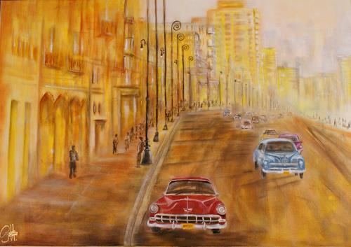 silvia federspiel, o.T., Traffic: Car, Landscapes, Contemporary Art, Expressionism