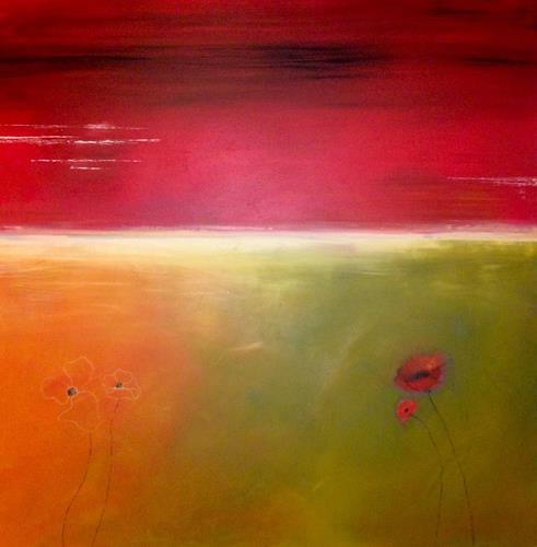 Beatrix Schibl, Abendrot, Poetry, Nature, Abstract Art, Expressionism
