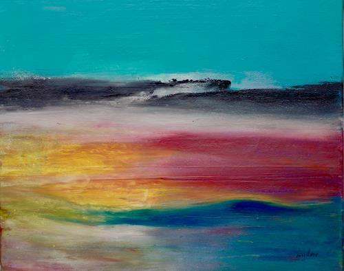 Beatrix Schibl, Shangri La, Miscellaneous Landscapes, Abstract art, Abstract Art, Expressionism