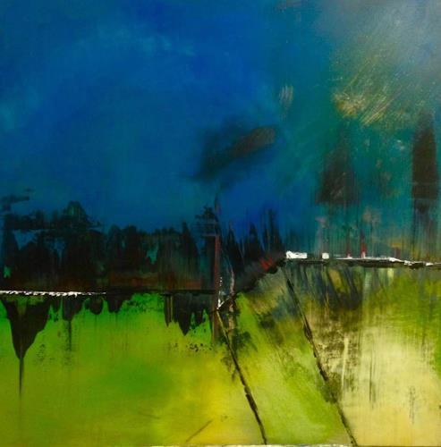 Beatrix Schibl, Anotherworld, Fantasy, Landscapes, Abstract Art, Expressionism