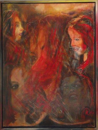 Hans-Dieter Ilge, Susann, People: Faces, Music, Contemporary Art, Expressionism