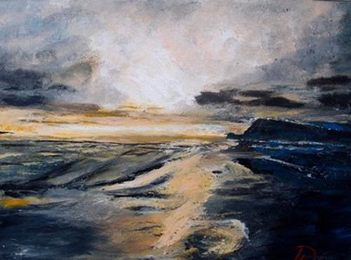 Hans-Dieter Ilge, Morgenstimmung auf Usedom, Landscapes: Sea/Ocean, Contemporary Art