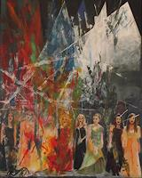 Hans-Dieter-Ilge-People-Group-Music-Concerts-Modern-Age-Expressive-Realism