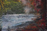 Hans-Dieter-Ilge-Landscapes-Autumn-Nature-Water-Contemporary-Art-Contemporary-Art