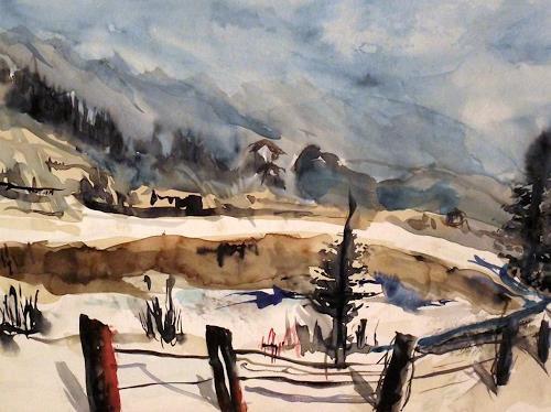 Hans-Dieter Ilge, Wetterumschwung, Landscapes: Winter, Contemporary Art, Expressionism