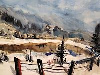 Hans-Dieter-Ilge-Landscapes-Winter-Contemporary-Art-Contemporary-Art
