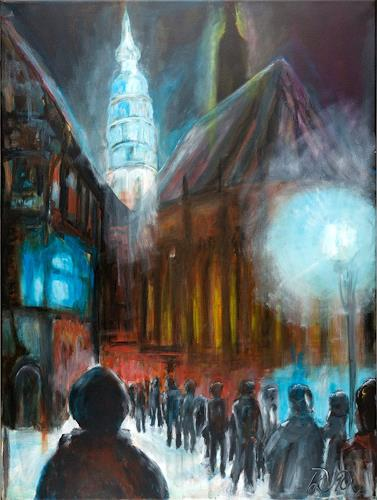 Hans-Dieter Ilge, Weihnachts-Glauben, Emotions: Safety, Buildings: Churches, Contemporary Art, Abstract Expressionism