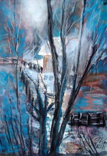 Hans-Dieter Ilge, Licht im Tal, Emotions: Joy, Landscapes: Mountains, Expressive Realism, Expressionism