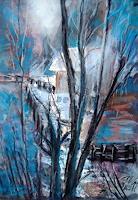 Hans-Dieter-Ilge-Emotions-Joy-Landscapes-Mountains-Modern-Age-Expressive-Realism