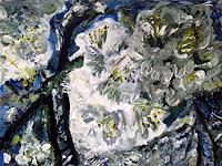 Hans-Dieter-Ilge-Plants-Trees-Landscapes-Spring-Modern-Age-Expressive-Realism