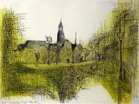 Hans-Dieter-Ilge-Architecture-Miscellaneous-Landscapes-Modern-Age-Expressive-Realism