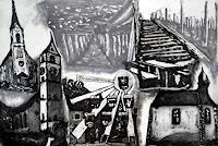 Hans-Dieter-Ilge-Miscellaneous-Landscapes-Architecture-Modern-Age-Expressive-Realism