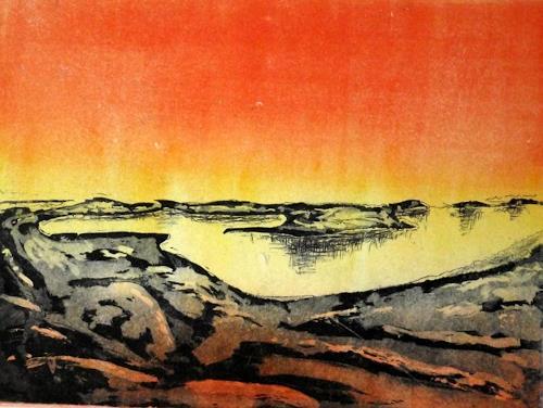 Hans-Dieter Ilge, Dezember über dem Mönchgut auf Rügen, Landscapes: Sea/Ocean, Times: Winter, Contemporary Art