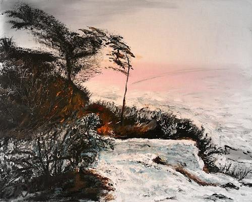 Hans-Dieter Ilge, Am Bodden, Landscapes: Sea/Ocean, Landscapes: Winter, Contemporary Art, Expressionism