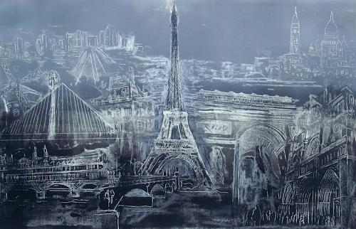 Hans-Dieter Ilge, Paris!, Buildings, Architecture, Contemporary Art