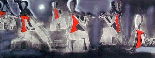 Hans-Dieter Ilge, Paris musiziert, People, Abstract Art