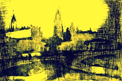 Hans-Dieter Ilge, Dresden Impression, Architecture, Contemporary Art