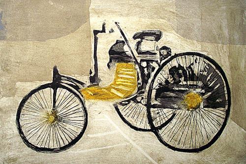 Hans-Dieter Ilge, Der erste Benziner...., Fantasy, Industry  , Contemporary Art