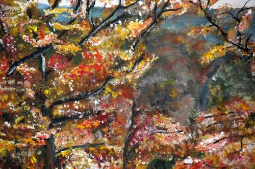 Hans-Dieter Ilge, Herbst, Landscapes, Contemporary Art, Expressionism