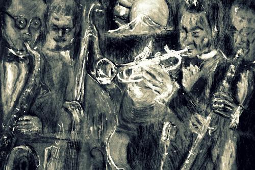 Hans-Dieter Ilge, Jazzband, Music: Musicians, Contemporary Art, Expressionism