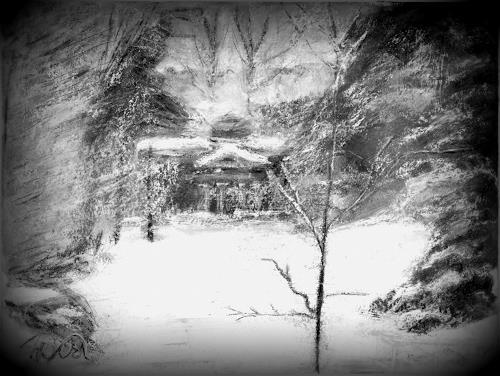 Hans-Dieter Ilge, o.T., Landscapes: Winter, Expressive Realism