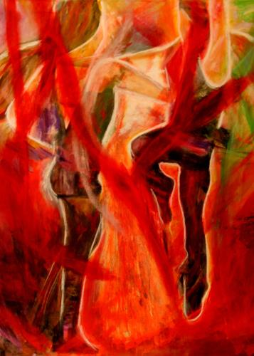 Hans-Dieter Ilge, Karneval Tanz, People: Group, Expressive Realism
