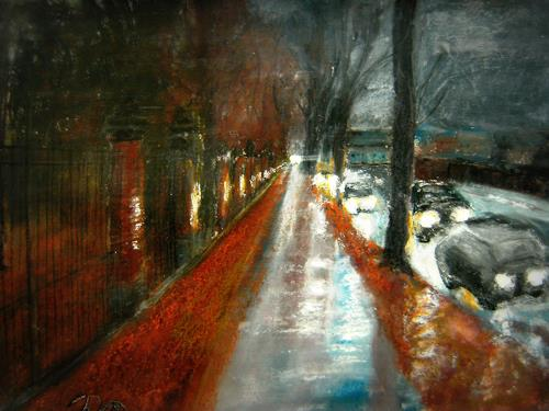 Hans-Dieter Ilge, Dezember II, Times: Winter, Contemporary Art, Expressionism