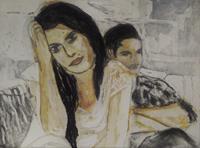 Hans-Dieter-Ilge-People-Couples-Miscellaneous-Emotions-Contemporary-Art-Contemporary-Art