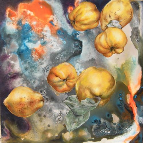 Patricia del Pilar Gottstein, Quitte im Weltraum, Meal, Decorative Art, Realism, Expressionism
