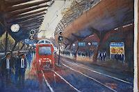 Milos-Petkovic-Interiors-Cities-Traffic-Railway-Modern-Age-Impressionism