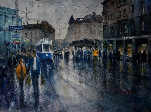 Milos Petkovic, Loewenplatz, Interiors: Cities, Impressionism
