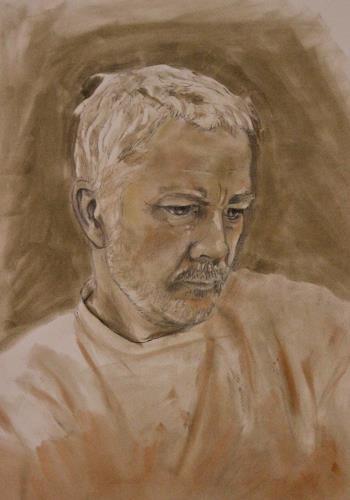 Martin Künne, Kopf 10 (Selbstportrait), People: Portraits, Realism, Expressionism