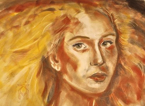 Martin Künne, Herbst I, People: Women, Expressionism