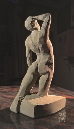 Martin Künne, Tänzer, People: Men, Erotic motifs: Male nudes, Contemporary Art, Expressionism