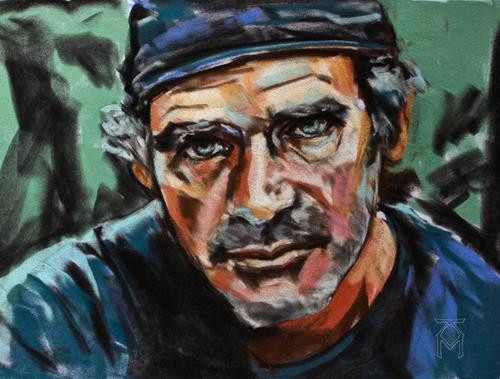 Martin Künne, Kopfstudie No. 7, People: Men, People: Portraits, Contemporary Art, Expressionism