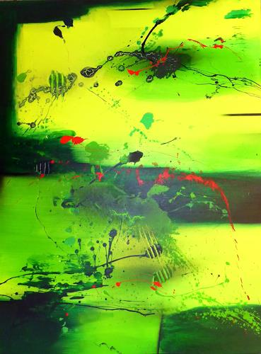Sandra Dürr, refreshing energy, Abstract art, Action Painting