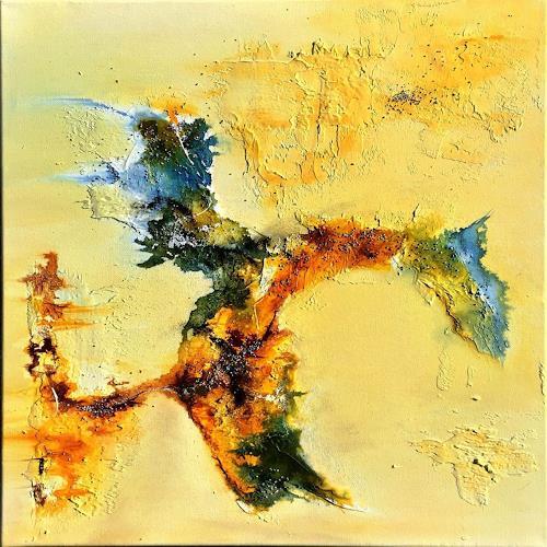 Sandra Dürr, oasis 3, Abstract art, Abstract Art