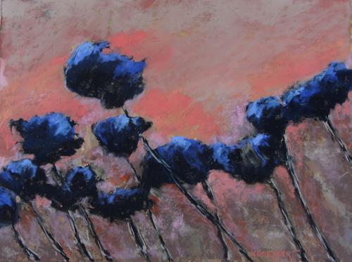 Karin Goeppert, Blaue Briese - Blue Breeze, Miscellaneous Plants, Abstract art, Contemporary Art, Expressionism