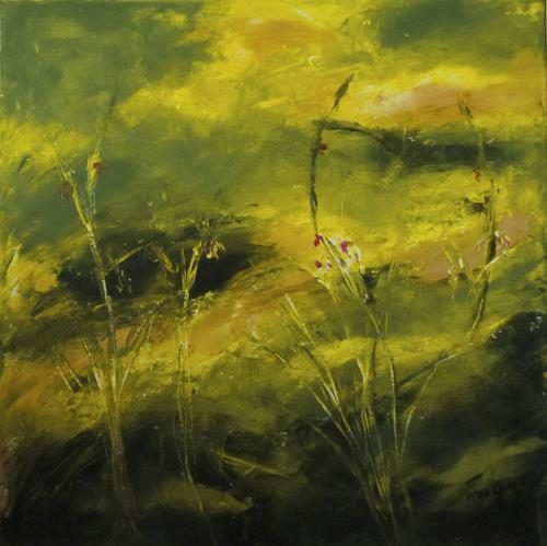 Karin Goeppert, Überwiegend Grün - Mainly Green, Abstract art, Landscapes, Contemporary Art, Expressionism