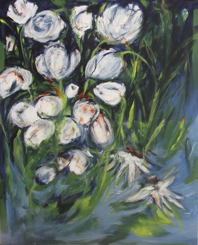 Karin Goeppert, Gartenfieber II - Gardenfever II, Abstract art, Plants: Flowers, Contemporary Art