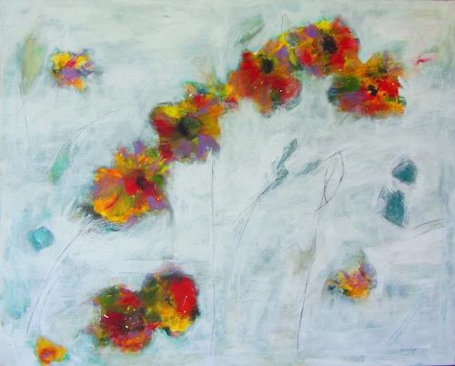 Karin Goeppert, Mauerblümchen - Wallflower, Plants: Flowers, Abstract art, Contemporary Art