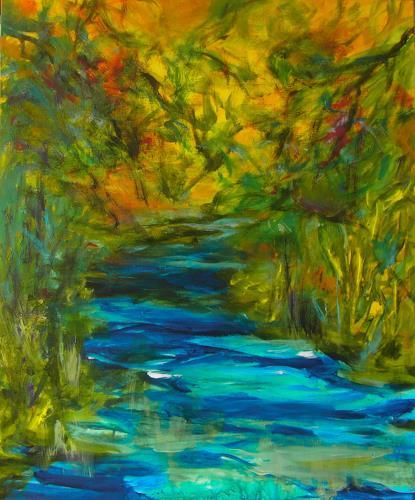 Karin Goeppert, Wilde Gewässer, Landscapes, Abstract art, Contemporary Art, Expressionism