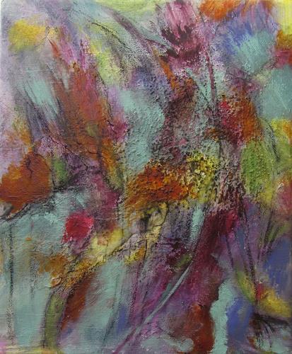 Karin Goeppert, Brennendes Feld - Burning Field, Abstract art, Abstract art, Contemporary Art