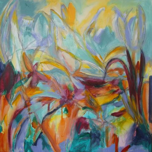 Karin Goeppert, Ein Tag im Park - A Day in the Park, Abstract art, Abstract art, Contemporary Art