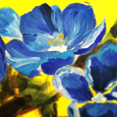 Dayana Krings, Details, Abstract art, Plants: Flowers, Modern Age, Expressionism